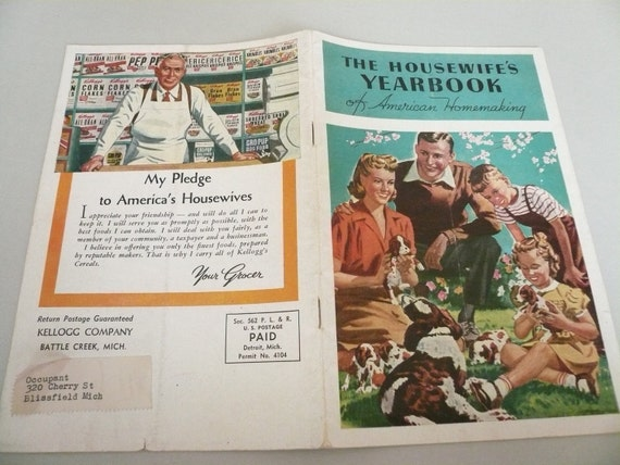1945 Housewife's Yearbook of American Homemaking