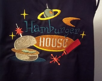Hamburger House embroidered chef's apron