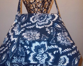 310 Blue  and White Shoulder Bag