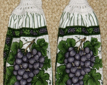 Grapes Hanging Hand Towel Set of 2