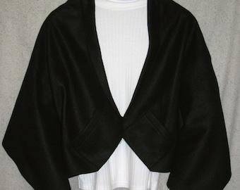 Solid Black Shawl, Bed Jacket, or Reading Shawl - Cold Office / Warm Shawl