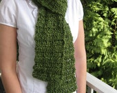 Snuggly Soft Green Scarf
