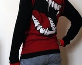 Blood Red Vampire Hoodie- Made to Order - Kezbirdie