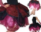 OOAK Handmade tulle skirt with cotton overskirt - Skirt of Epic Proportions - Kezbirdie