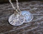 2 Disk Necklace - Customizable