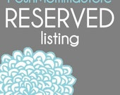 Reserved Listing for Michilyn