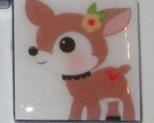 Cute Creatures (Fox, Bee, Deer, Flowers) 1 Inch Glass Tile Magnets