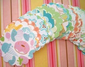 LAST ONE 50 Scalloped Cardstock Circles from the Nana's Kithen Collection