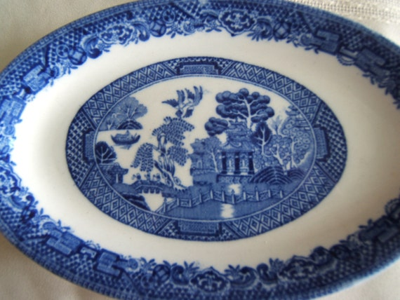 Willow Blue - Made in England Small Oval Platter