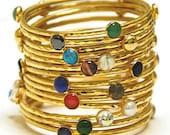 Jeweled Stackable Bangle Bracelets