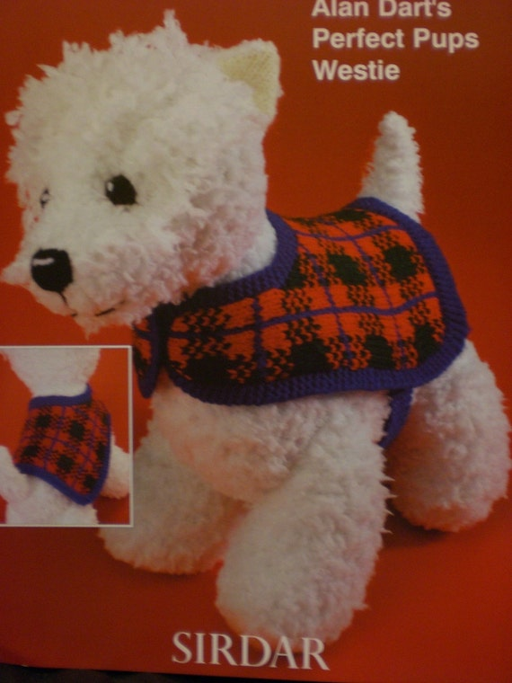 ALAN DART Westie Puppy Dog Toy Knit Pattern NEW OOP