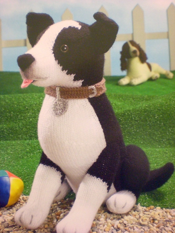 Knitting Pattern For Border Collie Dog : ALAN DART Sirdar Border Collie Toy Knitting Pattern NEW