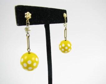 Very Yellow Polka Dot Earrings