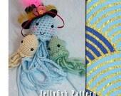 Amigurumi crochet cute decorative keychain Jellyfish Pattern