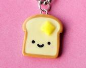 Kawaii Toast Necklace  (D1A5)