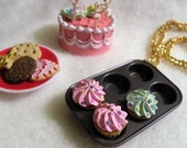 Fresh Baked Cupcake Necklace