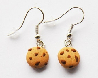 Chunky Chocolate Chip Cookie Earrings