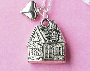 Home Sweet Home - Fairy Tale House Necklace  (D3J1)