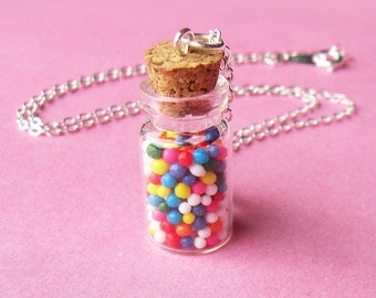 Rainbow Candy Bottle Necklace