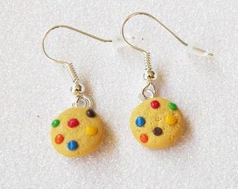 Rainbow Chocolate Chip Cookies Earrings