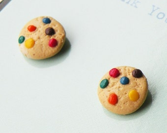 Rainbow Chocolate Cookie Stud Earrings