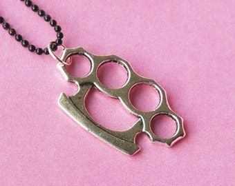 Silver Knuckle Necklace  (D3H5)