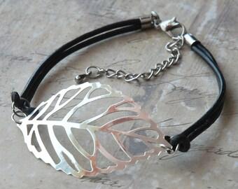 Silver Leaf Filigree Anklet