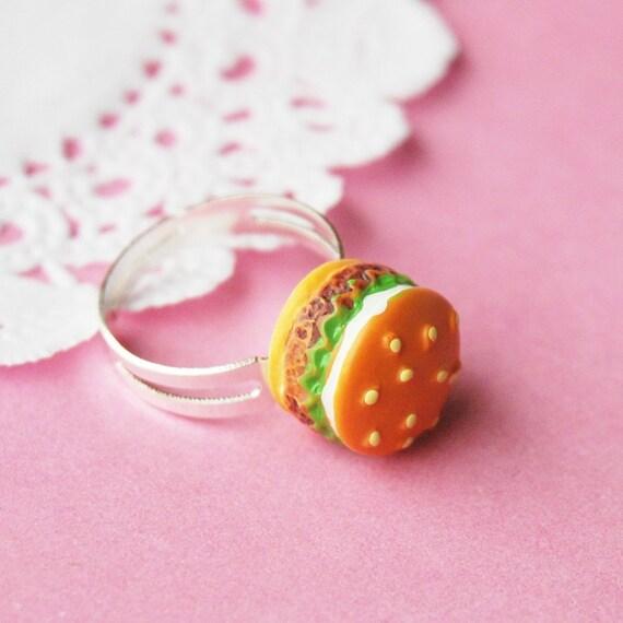 Classic Hamburger Ring - burger ring, cheeseburger ring