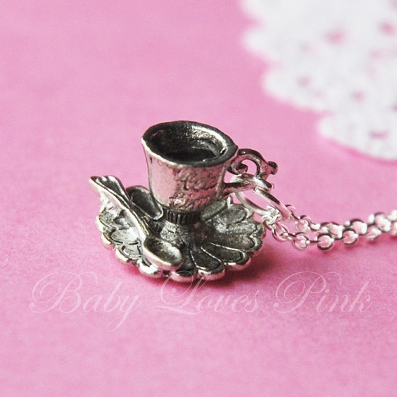 Tea Time Teacup Necklace  (R4A-A5A)