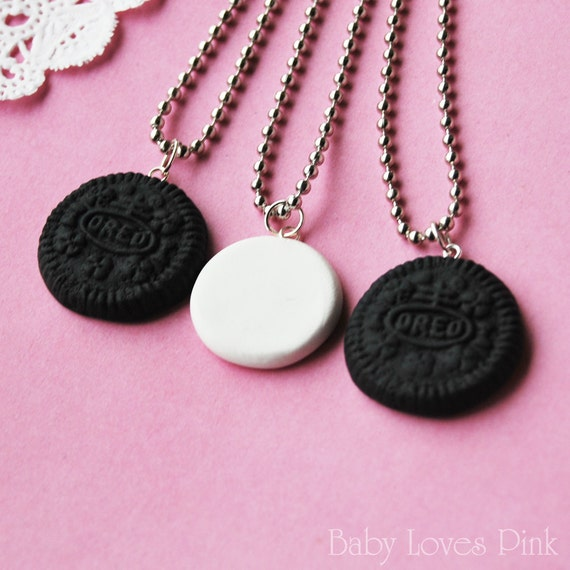 best friend jewelry for 3 oreo best friends necklace set of 3 r2f4 9892