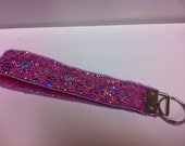 Key Keeper Wristlet with Gorgeous Purple Sequin Detail