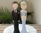 Wedding Cake Topper - Custom Designed and Hand Sculpted - Couple