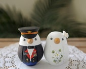 Military Wedding Cake Topper - Love Birds - Medium