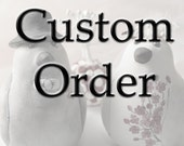 Custom Order Wedding Cake Topper -- For breeannahope