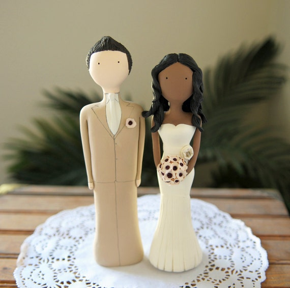 Wedding Cake Topper Custom Designed And Hand Sculpted-1211