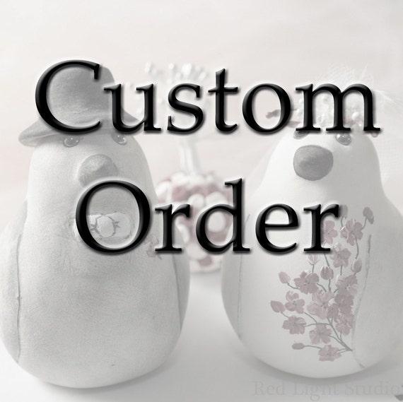 Custom Order Wedding Cake Topper -- For McKrafty