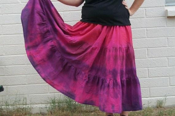 Tie Dye Hippie skirt plus size skirt