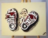 SALE - Baby Steps - Original Acrylic Artwork on 5x7 Canvas Board