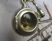reserved for Aaron STEAM BUBBLE  sterling silver no chain or watch parts