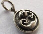 STEAMPUNK pendant, handmade artisan charm, EMBRYO jewelry,  long gunmetal finish solid brass ball chain