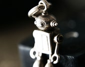 BUBBLE HEAD ROBOT in sterling silver and stainless steel