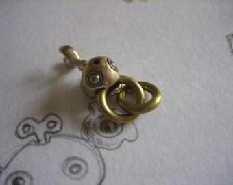 fish charms BABY FISHY bronze and stainless steel top quality steampunk