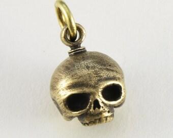 bronze skull large steampunk