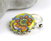Cocobeads Handmade Interchangeable Lampwork Topper (Cabochon) for Ring or Pendant (1)