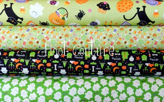 Clearance - 4 yard (3.7 m) bundle from the Trick or Treat Collection for Riley Blake Fabrics
