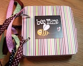 Bee Mine Mini Chipboard Album Scrapbooking Photo Premade Pages