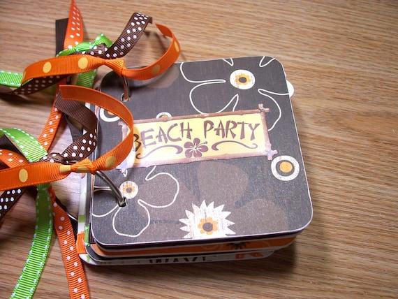 Beach Party Mini Album Chipboard Scrapbook