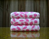 SALE - pink - baby bundle - three organic cotton burp cloths