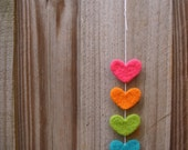 SALE - love love love needle felted hearts