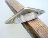 Round Square Ring, sterling, delicated, gold, men, woman